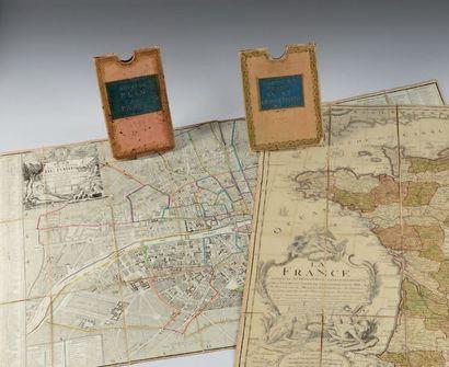 [PLAN de PARIS]. Plan de la ville et faubourg de Paris divisé en ses 48 sections....
