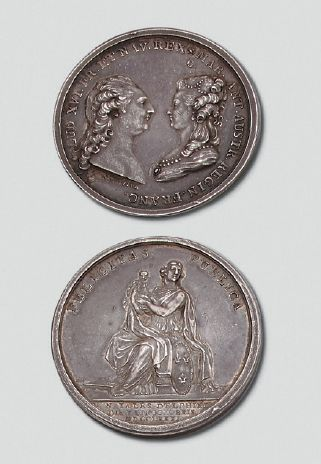 Médaille en argent: Naissance du Dauphin Louis Joseph, le 22 octobre 1781, gravée...