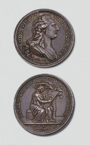 Médaille en argent: Naissance de Louis Charles, le 27 mars 1785, (Louis XVII); gravée...