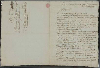 Claude COULOMBEAU (1751-?) secrétaire-greffier de la Commune de Paris