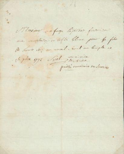 [LOUIS XVII (1785-1795) Dauphin, fils de Louis XVI et Marie-Antoinette, mort à la prison du Temple]