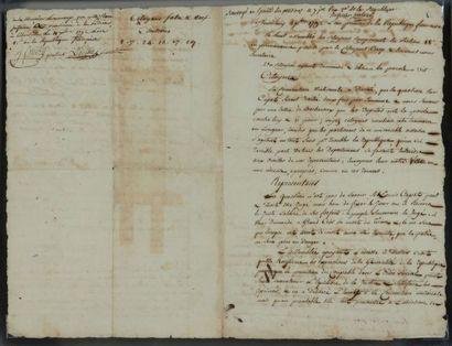 [PROCÈS DE LOUIS XVI]. PÉTITION manuscrite...