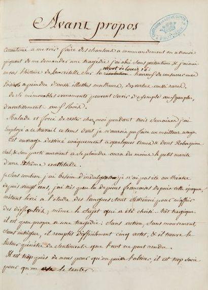 [Mort de LOUIS XVI]. MANUSCRIT, [Paris vers...