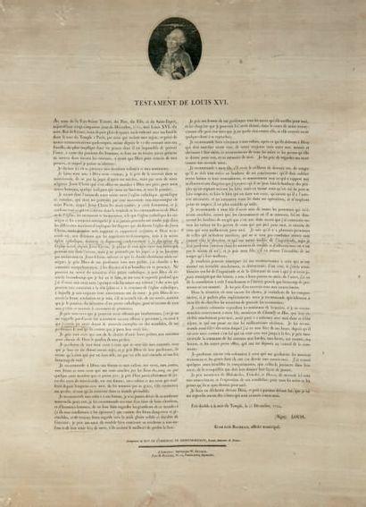 Testament de Louis XVI, fait au Temple le...