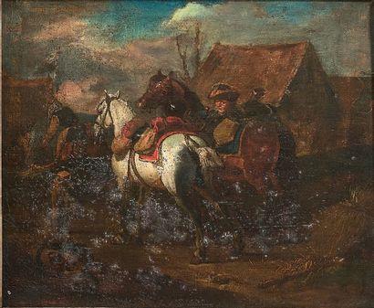 Attribué à Pieter van BLOEMEN (1657 - 1720)