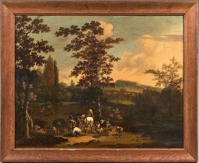 Ecole FRANCAISE de la fin du XVIIIème siècle, dans le goût de Jan BOTH