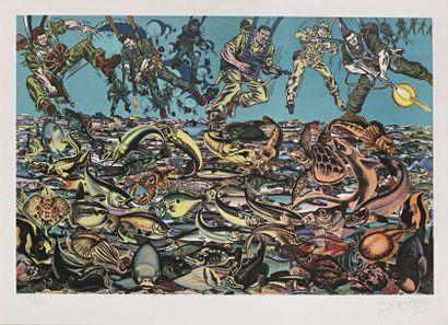 Erró (Né en 1932) Fishscape, 1985 Lithographie...