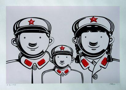 Shen JINDONG (Né en 1965) Famille militaire,...