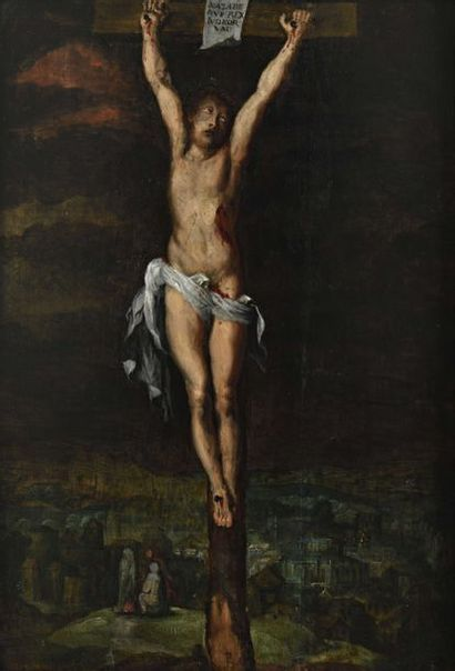 ÉCOLE FLAMANDE du XVIIe siècle Le Christ...