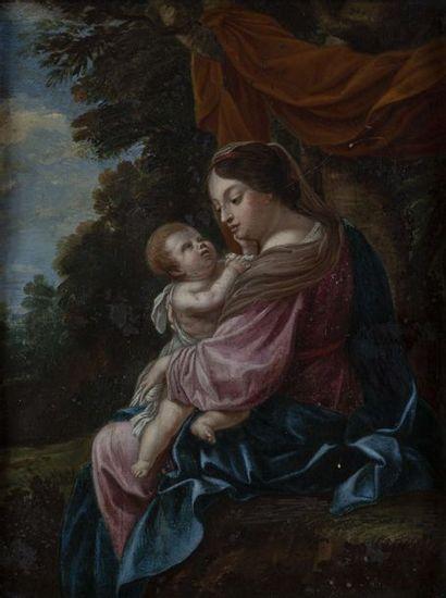 VOUET Simon (Ecole de) (1590-1649) La Vierge...