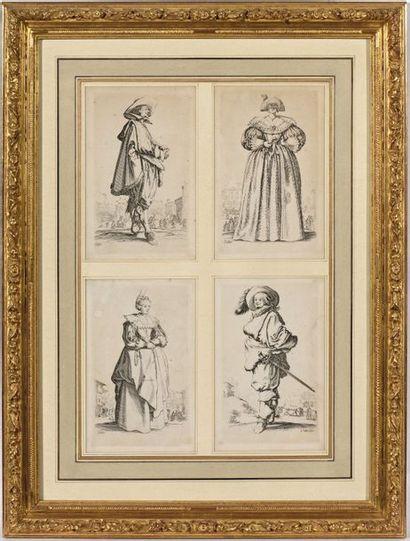 D'après Jacques Callot. Suite de quatre gravures...