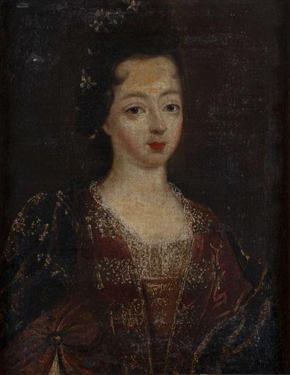 ÉCOLE FRANÇAISE Vers 1700 Portrait présumé...