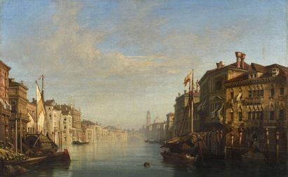 William WYLD Venise, vue du grand canal Toile...