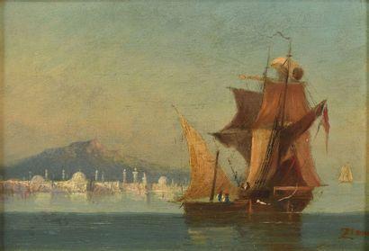 ÉCOLE FRANÇAISE Vers 1900 Vue d'Istanbul...