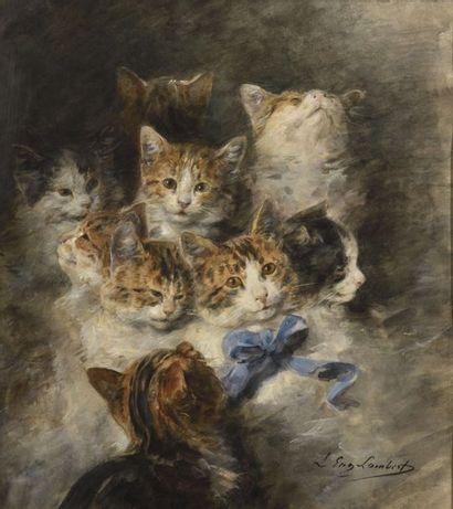 Louis-Eugène LAMBERT (1825-1900) Les chats...