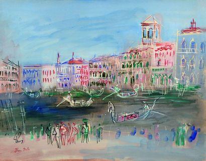 DUFY Jean (1888-1964) Vue de Venise, vers...