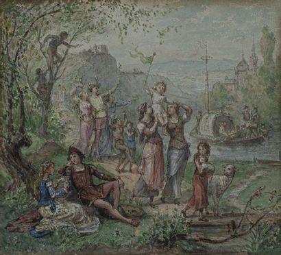 ARNOUD, actif à la Fin du XIXe siècle L'Ile...