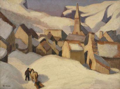 Jules Emile ZINGG (1882-1942) Paysan et son...