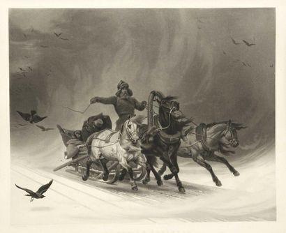 Horace VERNET (1789-1863) (d'après) Course...
