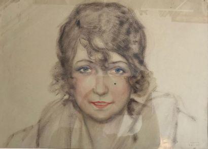 Sacha ZALIOUK (1887-1971) Portrait d'une...