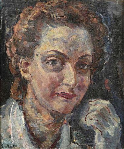 Sergej MAKO (1885-1953) Portrait de femme...