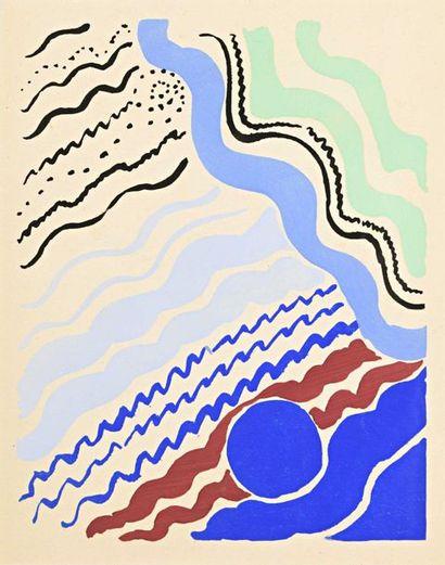 Sonia DELAUNAY (1885-1979) Composition Pochoir...