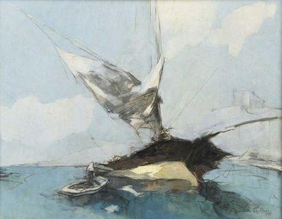 Andre PETROFF (1894-1975) Voilier Huile sur...