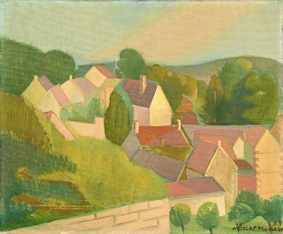 Nicolas POLIAKOFF (1899-1976) Paysage cubisant,...