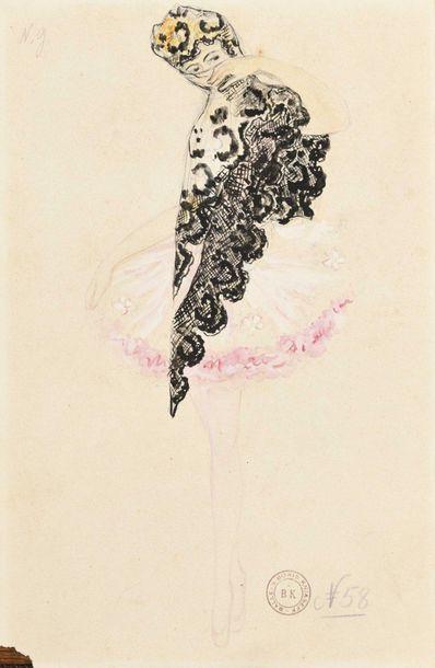 Nathalia GONTCHAROVA (1882-1961) Projet de...