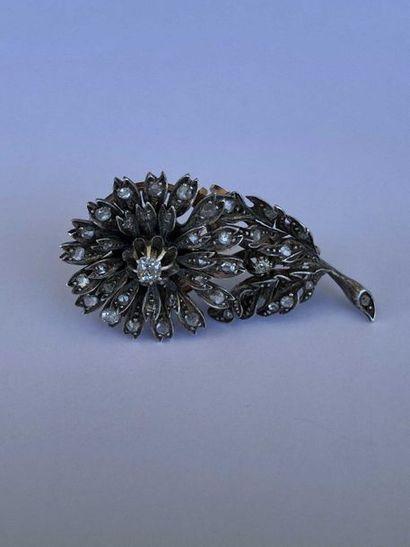 Broche pendentif «Fleur» transformable...