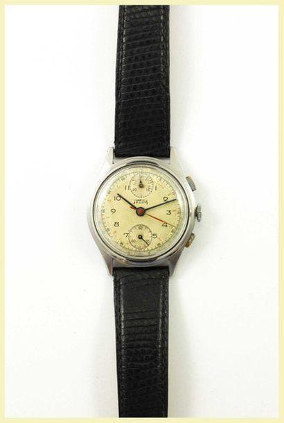 Telda Montre chronographe en acier à mouvement...