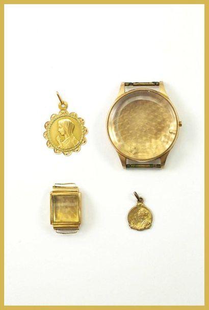 Lot d'or 18K 750 millièmes comprenant un...