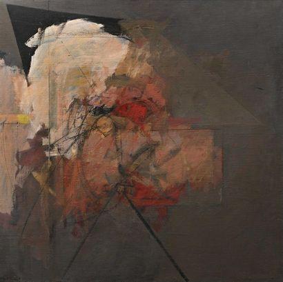 Albert BITRAN (1931-2018) Passage de l'angle, 1987 Huile sur toile , signée en bas...