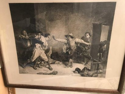 Grande gravure d'après Messonier par Dignimont...