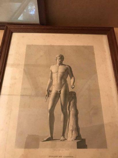 Paire de gravures Vénus Médicis 47 x 34 cm,...