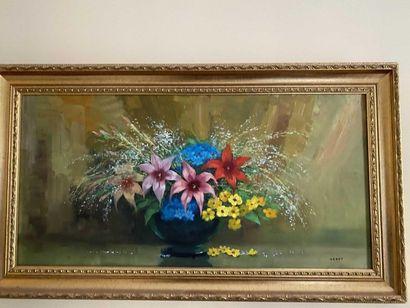 VERDY, école moderne Bouquet de fleurs Huile...