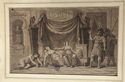 Ecole du XIXème siècle  La mort de Cléopâtre...