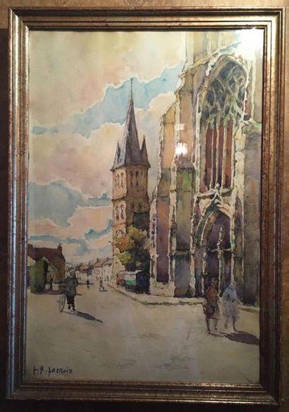 Louise Renée LACROIX (c1890 - c1940)  Scène...