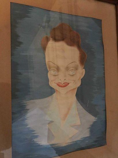 ECOLE du XXè siècle  Portrait de femme, vers...