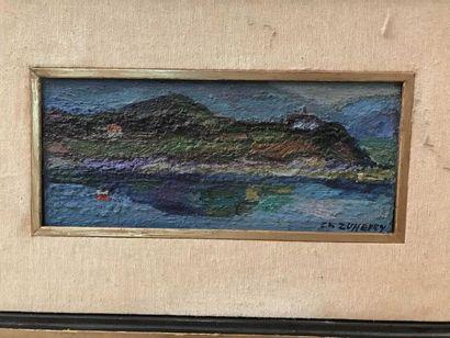 Christiane Zufferey Paysage de bord de mer...