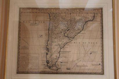 Carte du «Paraguai, du Chili et du détroit...