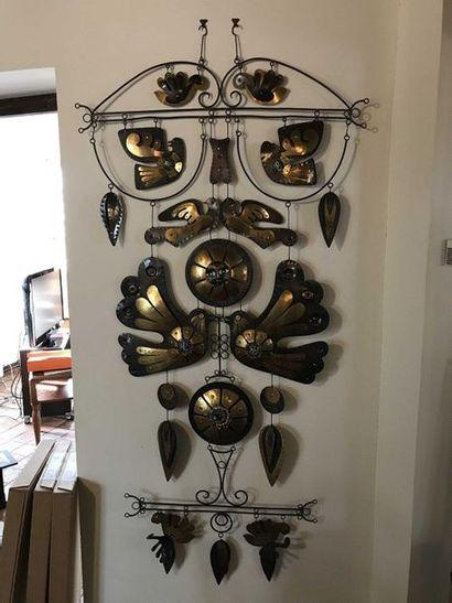 Art populaire élément de décoration en métal...