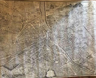 Grand plan de Paris d'après Turgot 118x151cm...
