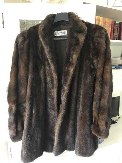 Three-quarter mink coat, scratched Pierre...