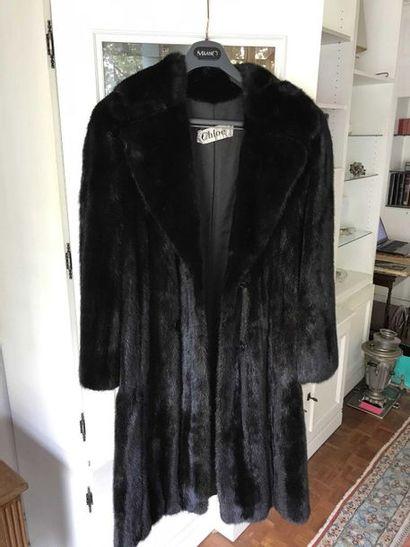 Mink coat with Chloé logo Ref16eme