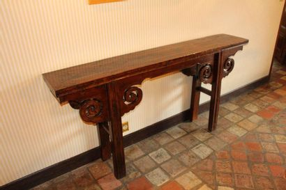 Console in natural wood Far East Style Height:...