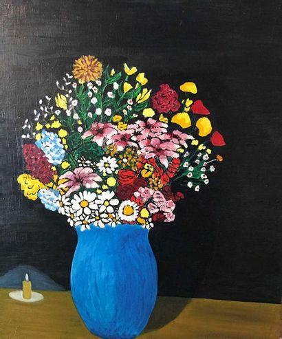 Eric B, école moderne Bouquet de fleurs Huile...