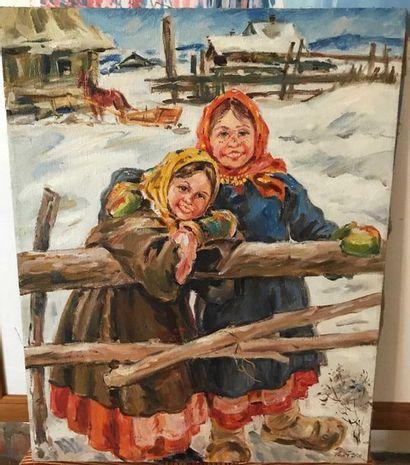 V N OSTAPENKO Les enfants de paysans. 2000...