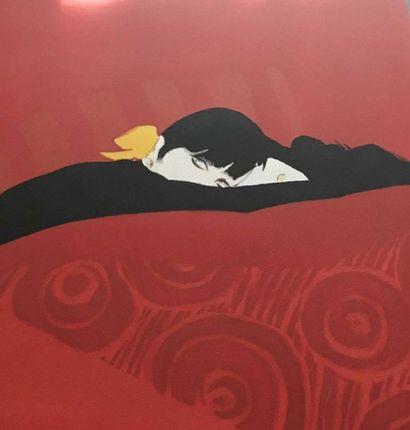 René GRUAU Femme endormie Lithographie N°10/150...