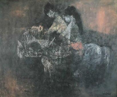 Dang LEBADANG (2921-2015) Couple à cheval...